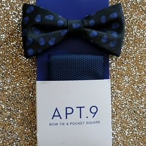 Apt. 9 Bow tie and pocket square